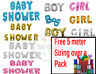 """Baby Shower Oh Baby It's a Boy/Girl 16"""" Foil Letter Balloon Party Born baby fun"""
