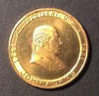 JOHN ADAMS 2ND US President 1797-1801 Token Medal