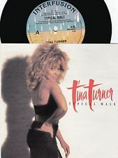 Tina Turner ORIG OZ PS 45 Typical male NM '86 Interfusion K85 R&B Pop Rock