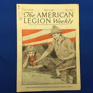Boy Scout The American Legion Weekly May 1922 Full Issue With Boy Scout Cover