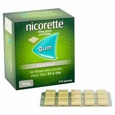 Nicorette ORIGINAL Flavour Gum 4MG 210 Pieces FAST SHIP FROM USA exp 2023