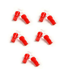 5 Pair DC 12V T5 LED Dashboard Car Top Round Tail Side Bulbs Red