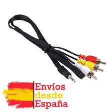 Video Cable de conexión,4-pin 3.5 mm Jack Plug-3 RCA (phono) Plugs,1.5m, 3.5 mm