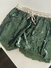 Zara Sequin Shorts Green