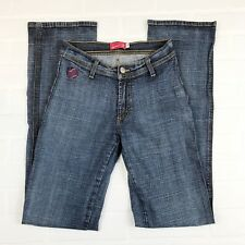 "APPLE BOTTOMS Jeans SZ 4 Stretch Denim Straight Leg Apple Pockets 32.5"" Inseam"