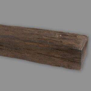 2 Meter Dekorbalken 20x13 cm | Deckenbalken | PU-Balken | Dunkelbraun | Rustikal