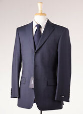 NWT $895 HUGO BOSS Navy Blue Subtle-Woven Wool Suit 36 R 'Scorsese/Movie'
