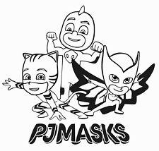 Owlette Gekko & Catboy Superheroes Wall Decal | Pj Masks Kids Room Decor 19x20