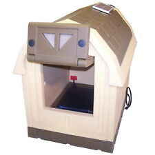 Heated Insulated Dog House Large Breed Combo Floor Heater Solar Vent Palace