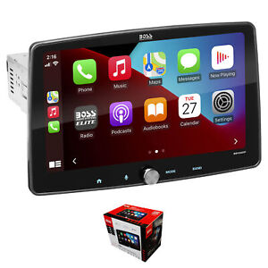 "BOSS 10.1"" 1 DIN Touchscreen Radio with Apple CarPlay, Bluetooth & Android Auto"