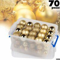 Lot 70 Pièces Boules de Noel 4-5-6cm Or Christmas Gifts