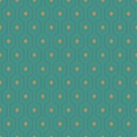 ASHTON GEOMETRIC WALLPAPER TEAL / GOLD GRANDECO A34201 - NEW