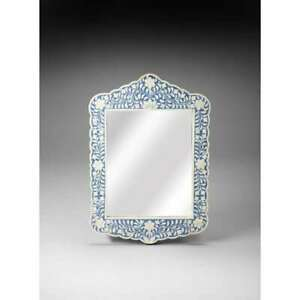 Butler Bone Inlay Wall Mirror, Blue Bone Inlay - 3451319