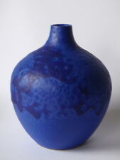 HOY Studiokeramik (Töpferei Hartwig Heyne) Vase blau 37 - West German Pottery