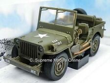 WILLYS JEEP ARMY MILITARY MODEL CAR 1/32ND SCALE GREEN TYPE BOXED BXD Y0675J-+-