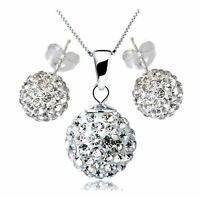 Halskette + Ohrringe Set Hochzeit Abend Kette Statementkette Charms Necklace