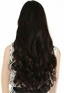Real Like Hair Extension Women's Natural Brown Curly/Wavy 24 Inch Hair Extension