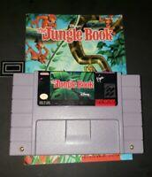The Jungle Book Super Nintendo SNES 100% Original with MANUAL! Perfect nes mario