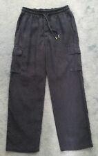Vilebrequin Unisex Navy Blue Linen Cargo Pants Size L Great Condition.