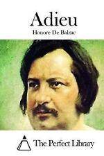 Adieu by Honoré de Balzac (2015, Paperback)