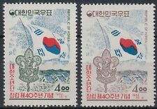 Korea-Süd 1962 ** Mi.363/64 Pfadfinder Scouts Scouting Flagge Flag [st0842]