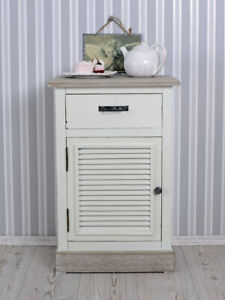 Bedside Table White Bedside Cabinet Country House Style Bedside Console