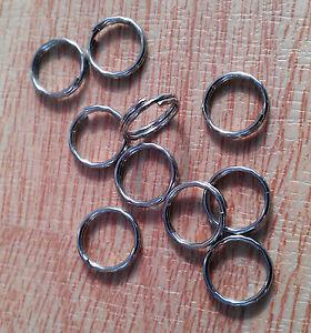 Heavy duty 12mm stainless steel double loops split rings wholesale