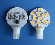 10x T10 194 921 W5W Bulb Lamp 12-5050SMD LED12V Super Bright, Warm White #Y