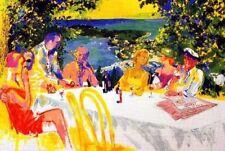 "Leroy Neiman ""WINE ALFRESCO"" Art Postcard"