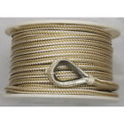 38 Inch X 200 Ft Gold And White Double Braid Nylon Anchor Line For Boats