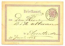 NEDERLAND 1876  BRIEFKAART  - LANGST = LANDSMEER  = PR EX
