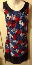 New Retro 60s Pinup Style Voir Voir Chrysanthemum Floral Evening Dress 12
