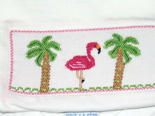 sale Girls Smocked Tee shirt FLAMINGO 4T Vive La Fete New Beach cruise wear