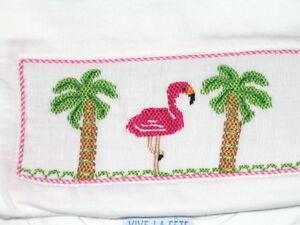 sale Girls Smocked Tee shirt FLAMINGO 4T Vive La Fete New Beach cruise wear
