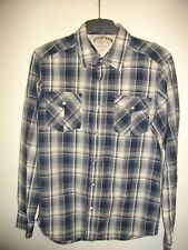 NEW * TOMMY HILFIGER * BLUE / WHITE CHECK, REG FIT, COTTON SHIRT SIZE LG RRP £60