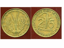 ETATS DE L'AFRIQUE DE L'OUEST  25 francs 1975  ( bis )