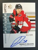 2019-20 SP Authentic Rudolfs Balcers Future Watch Rookie Auto /999