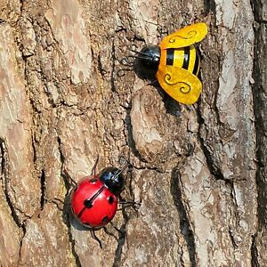 Ladybird And Bumble Bee Garden Wall Ornament