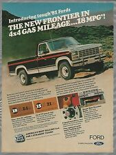 1981 FORD F150 Ranger advertisement, Ford ad, Ranger 4x4 150 Pickup truck