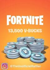 Fortnite 13,500 V-bucks R.A.F.L.E. *Please Go To Description*