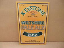 Keystone Brewery Wiltshire Pale Ale Beer Pump Clip face Pub Bar Collectible 88