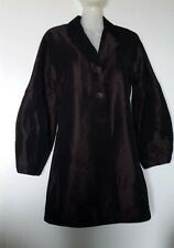 ARMAND VENTILO COAT FR38, EU36, US S VAL EUR ACETATE, SILK CHOCOLATE