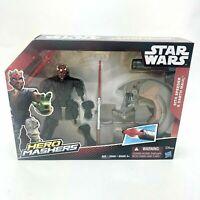 Star Wars Hero Mashers Sith Speeder and Darth Maul New Disney Hasbro