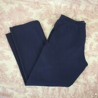 Mens Sweatpants Soffe Size M Medium Navy Blue Drawstring Pockets