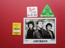 JEFF HEALEY BAND,1 Promo Photo,3 VERY Rare  Backstage Passes
