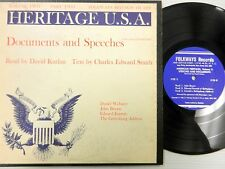 """HERITAGE U.S.A. 10"""" LP Documents and Speeches Vol.2 Part 2 Read by DAVID KURLAN"""