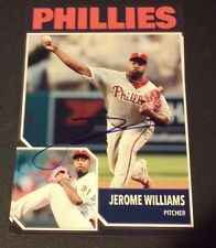 JEROME WILLIAMS PHILLIES SIGNED PHOTO