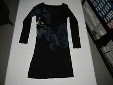 Anthropologie Gramm Women's Black Sword Butterfly Button Cardigan Sweater Size S