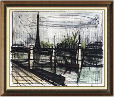 Bernard Buffet Original Le Pont Du Jour Color Lithograph Hand Signed Modern Art