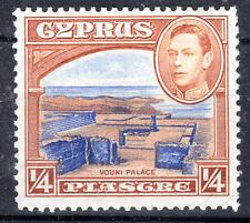 Cyprus KGVI  1938-51 1/4piastre lmmint  [C812]